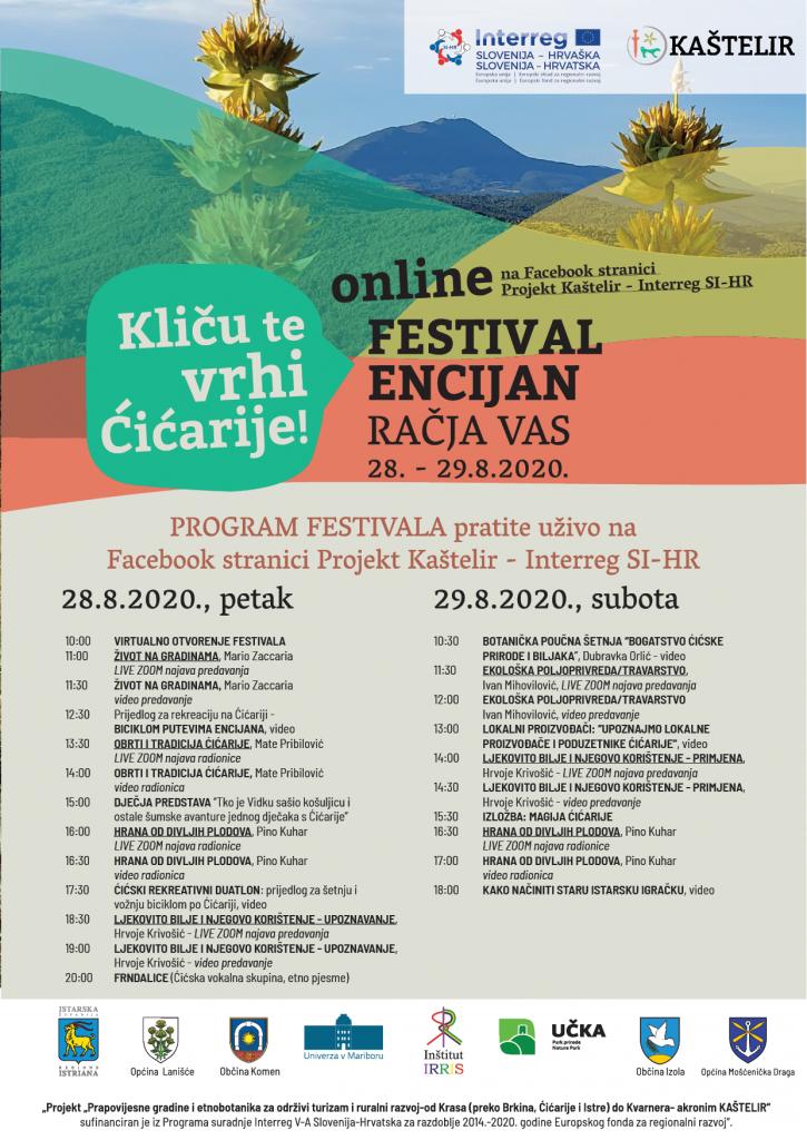 Prva edicija Festivala Encijanposvećenog promociji Ćićarije- on line izadnjeputem Facebook stranice projekta Kaštelir